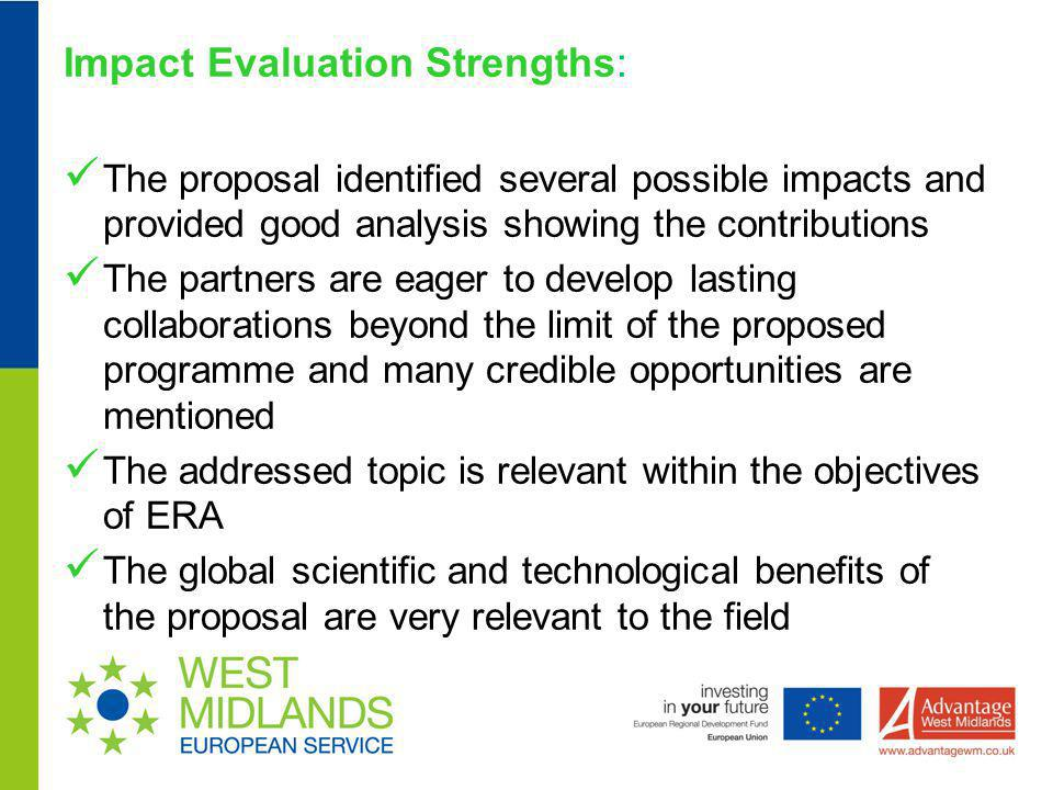 Impact Evaluation Strengths: