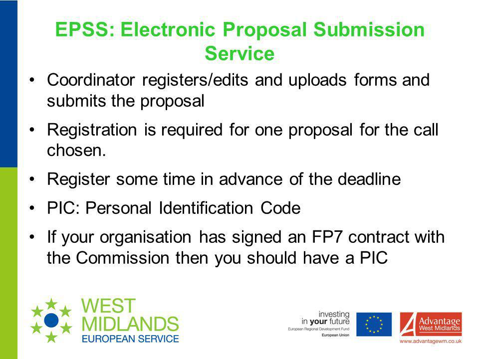 EPSS: Electronic Proposal Submission Service