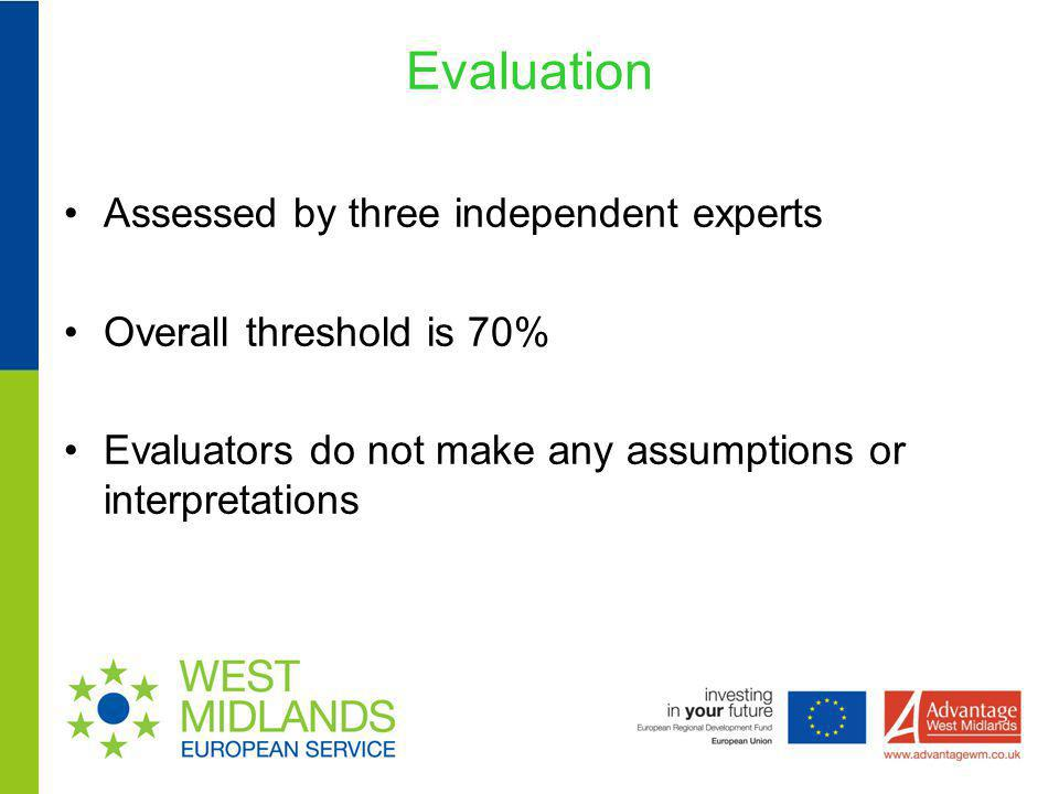 Evaluation Assessed by three independent experts