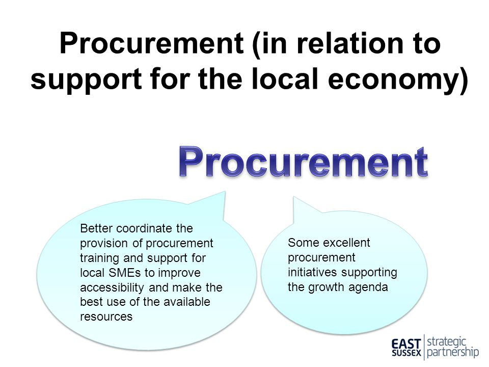 Procurement (in relation to support for the local economy)