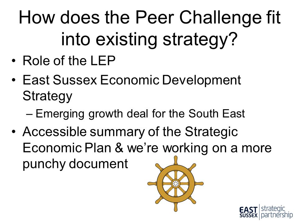 How does the Peer Challenge fit into existing strategy