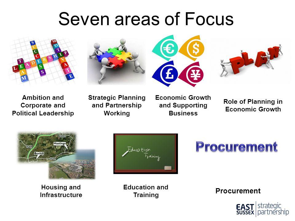 Seven areas of Focus Procurement Procurement