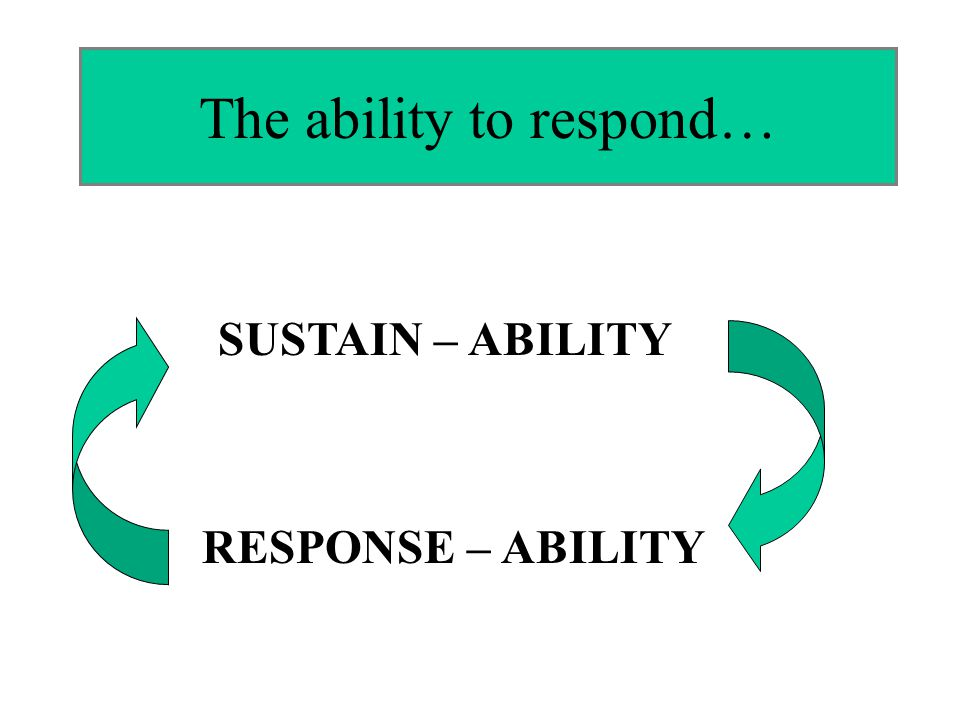 The ability to respond…