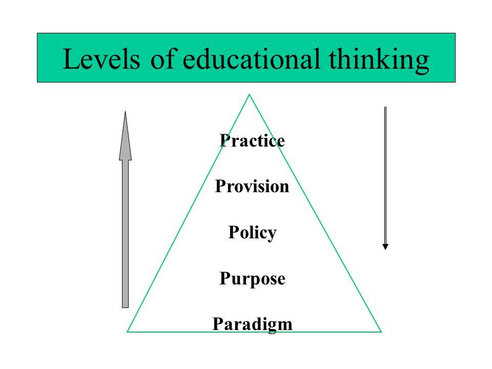 Levels of educational thinking