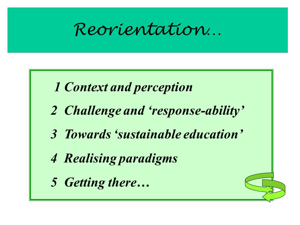 Reorientation… 1 Context and perception