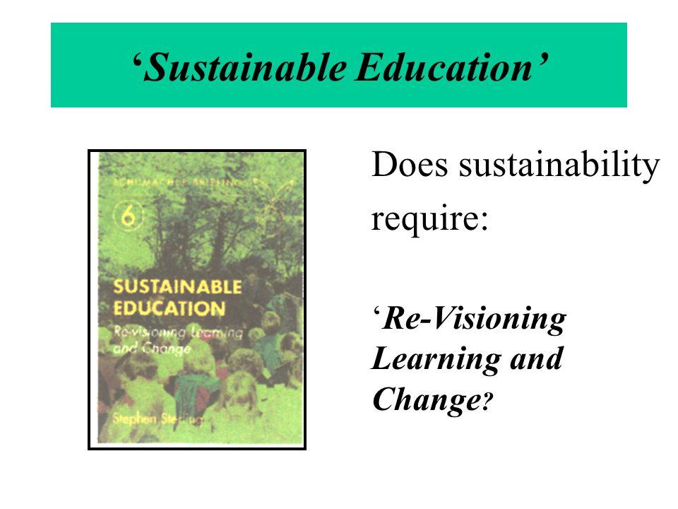 'Sustainable Education'