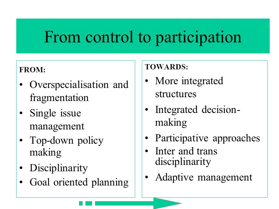 From control to participation