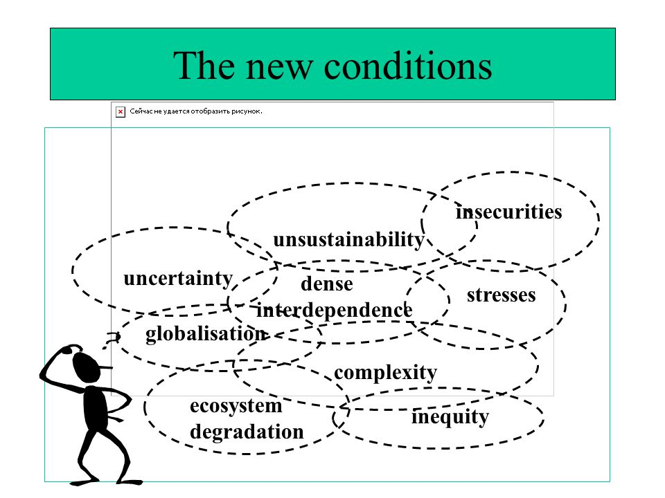The new conditions insecurities unsustainability uncertainty