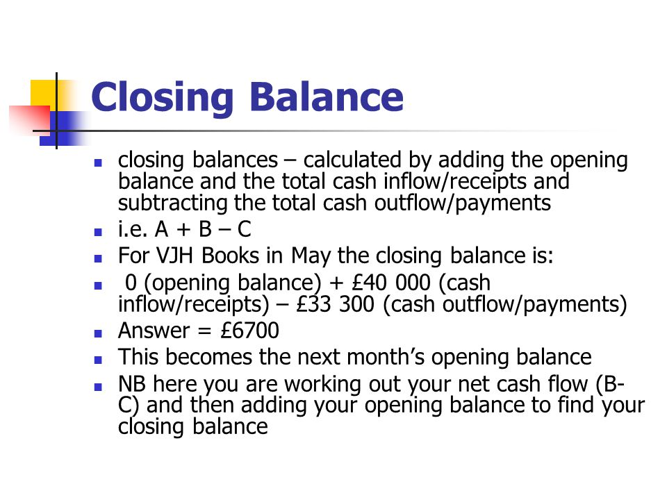 Closing Balance