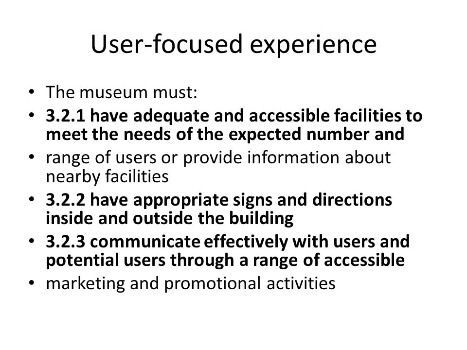 User-focused experience
