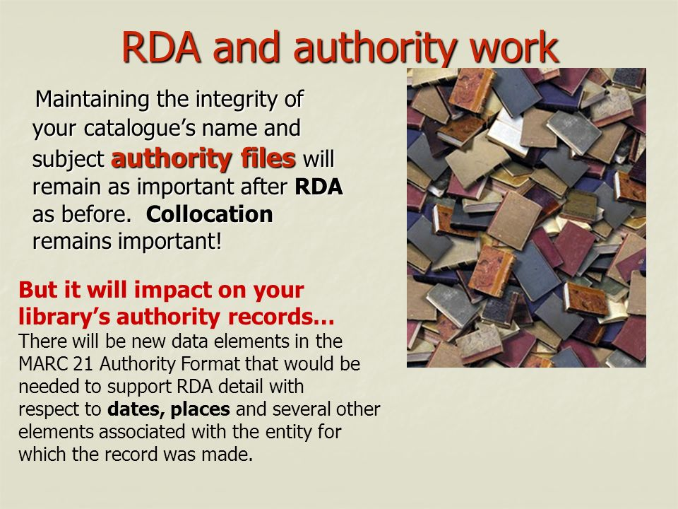 RDA and authority work