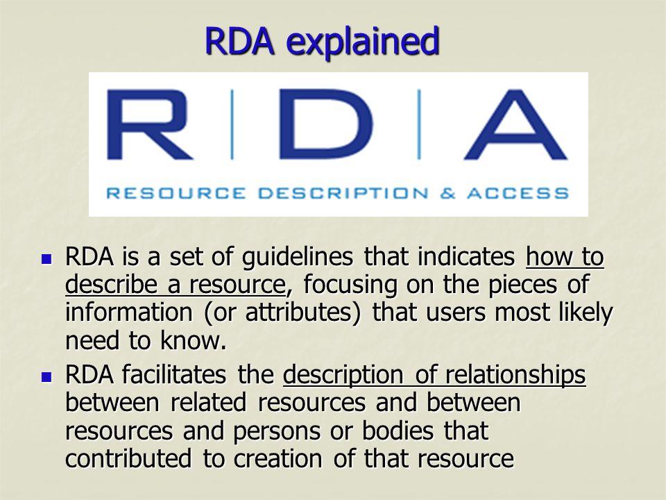 RDA explained