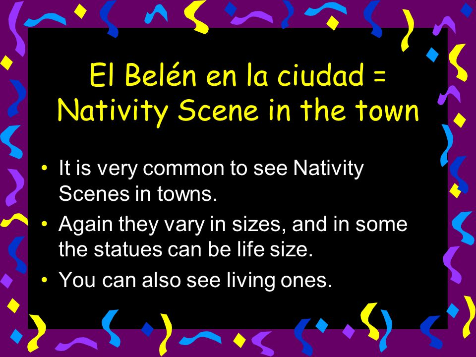 El Belén en la ciudad = Nativity Scene in the town