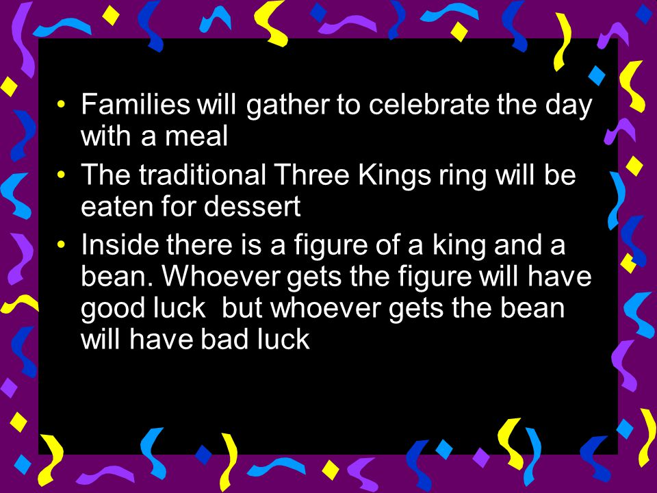 Families will gather to celebrate the day with a meal