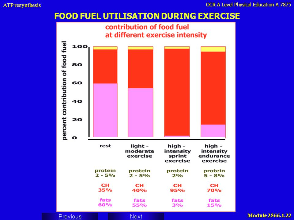 FOOD FUEL UTILISATION DURING EXERCISE