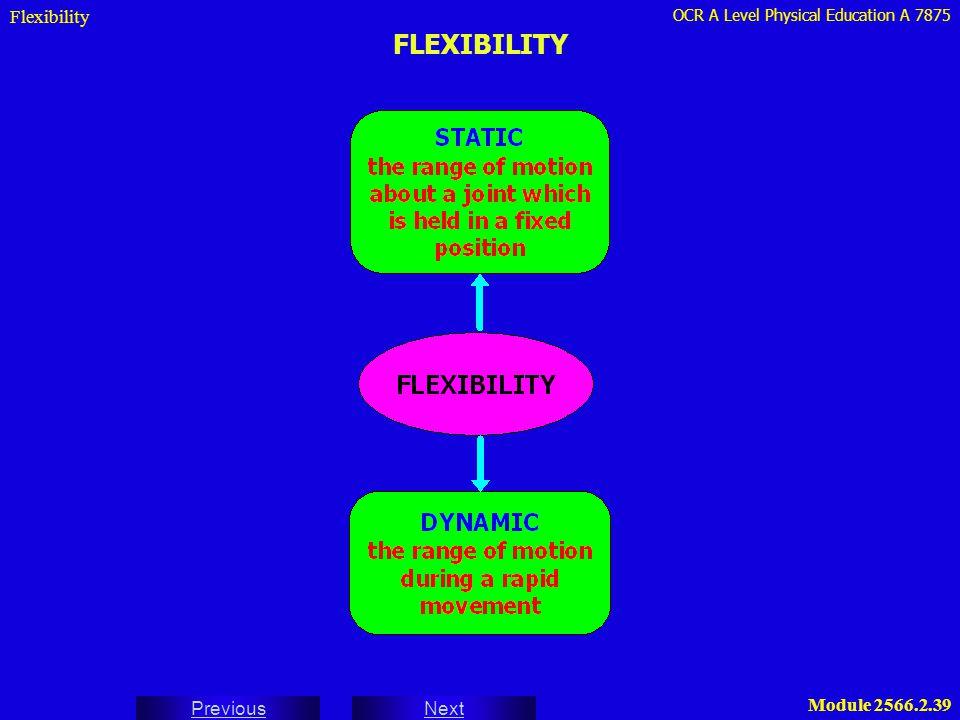 Flexibility FLEXIBILITY