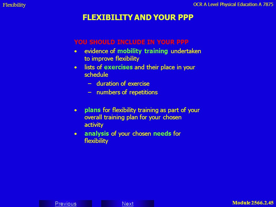 FLEXIBILITY AND YOUR PPP