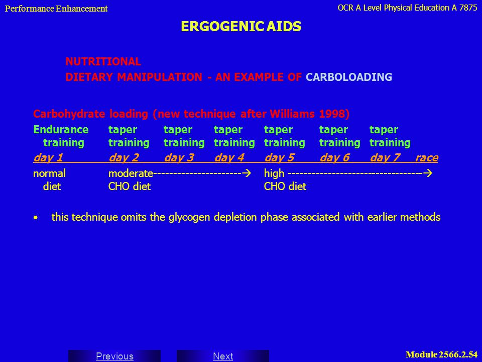 ERGOGENIC AIDS NUTRITIONAL