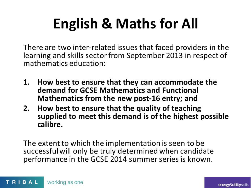 English & Maths for All
