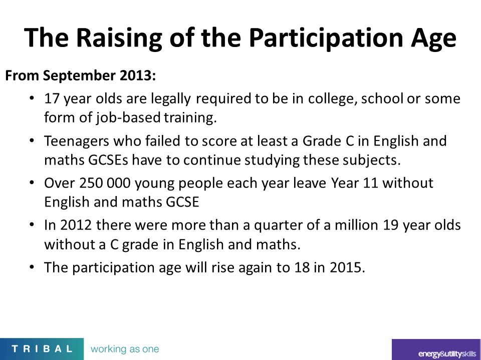 The Raising of the Participation Age