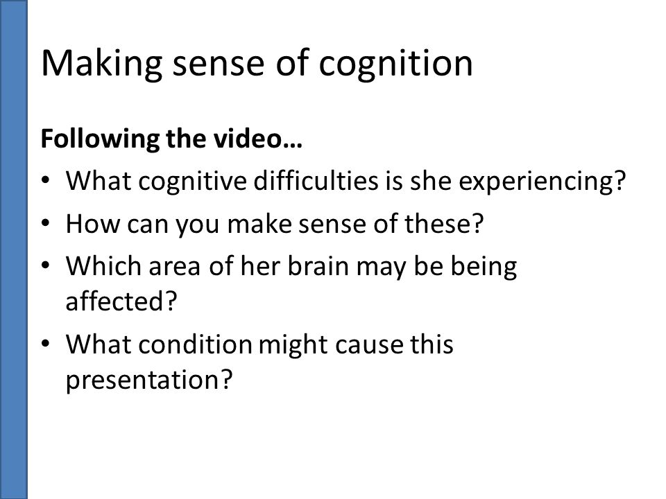 Making sense of cognition