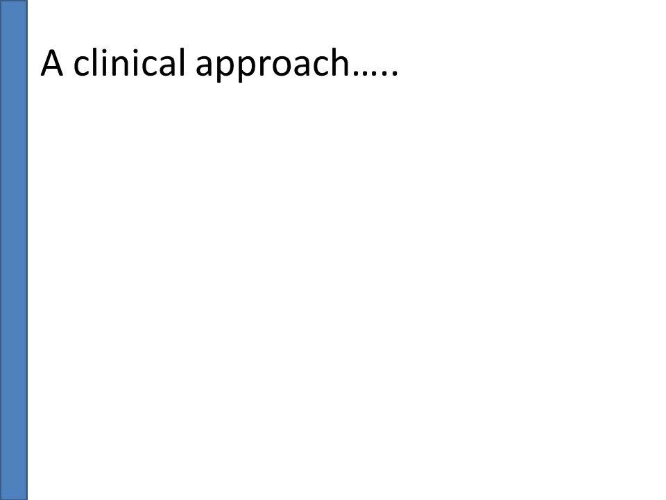 A clinical approach…..