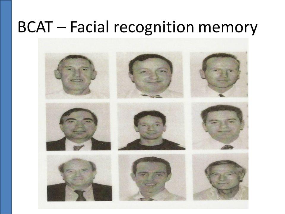 BCAT – Facial recognition memory