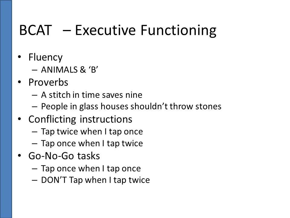 BCAT – Executive Functioning