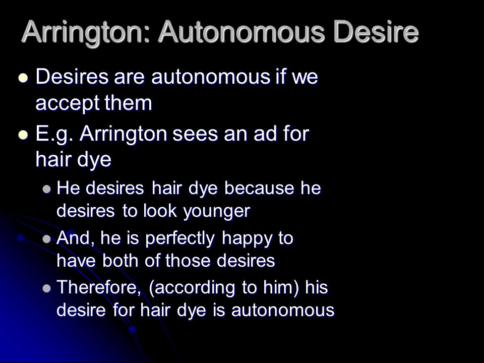 Arrington: Autonomous Desire