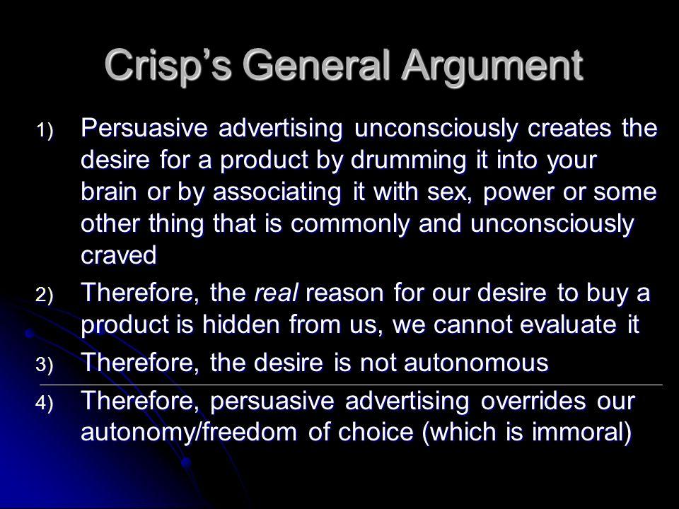 Crisp's General Argument