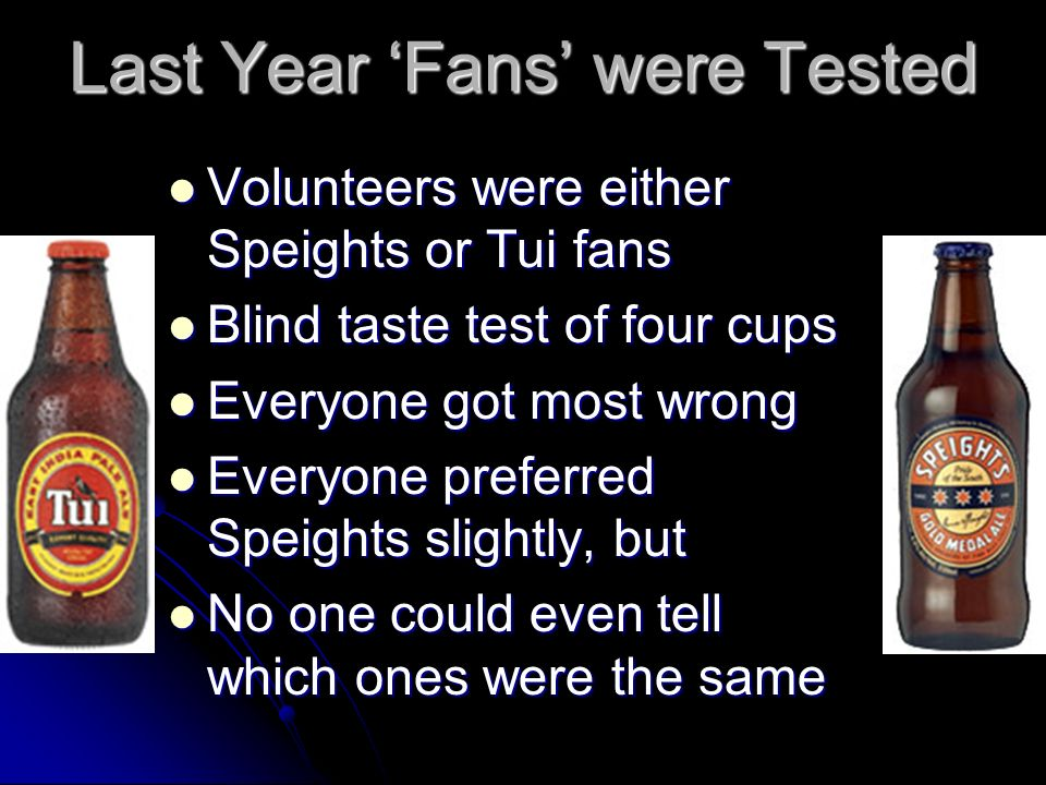 Last Year 'Fans' were Tested