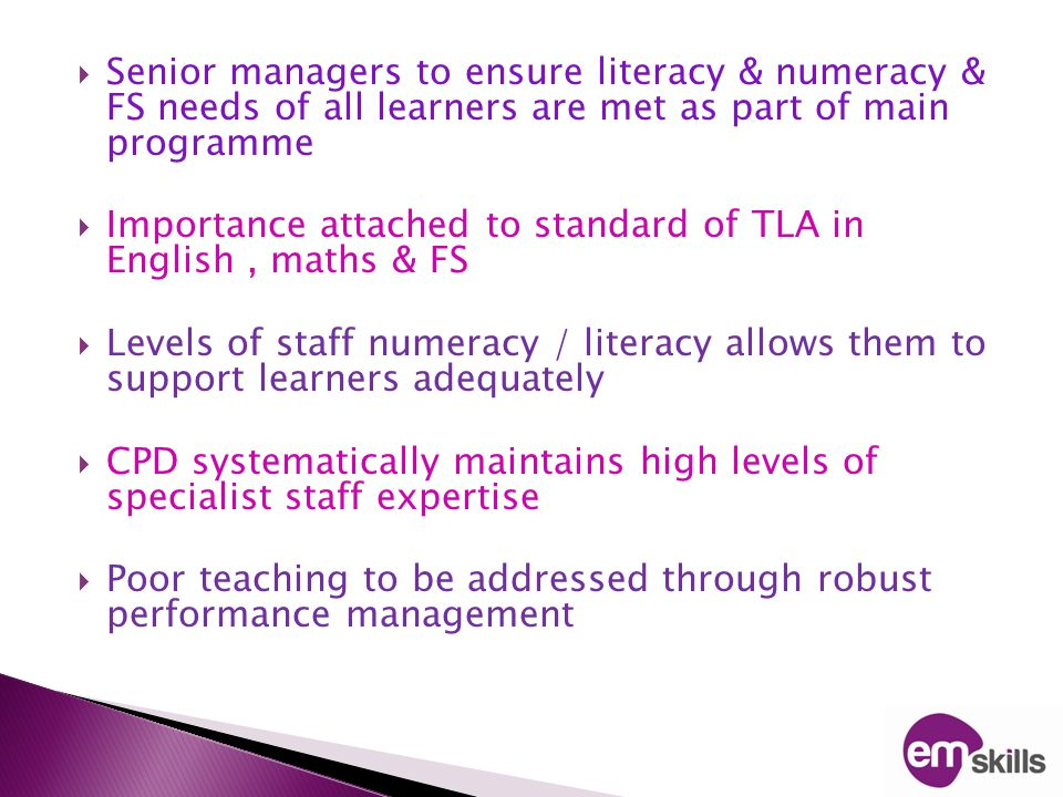Literacy & numeracy standards cause for concern