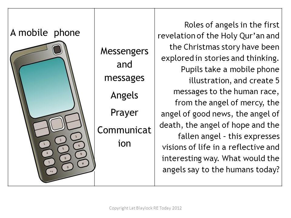 Messengers and messages