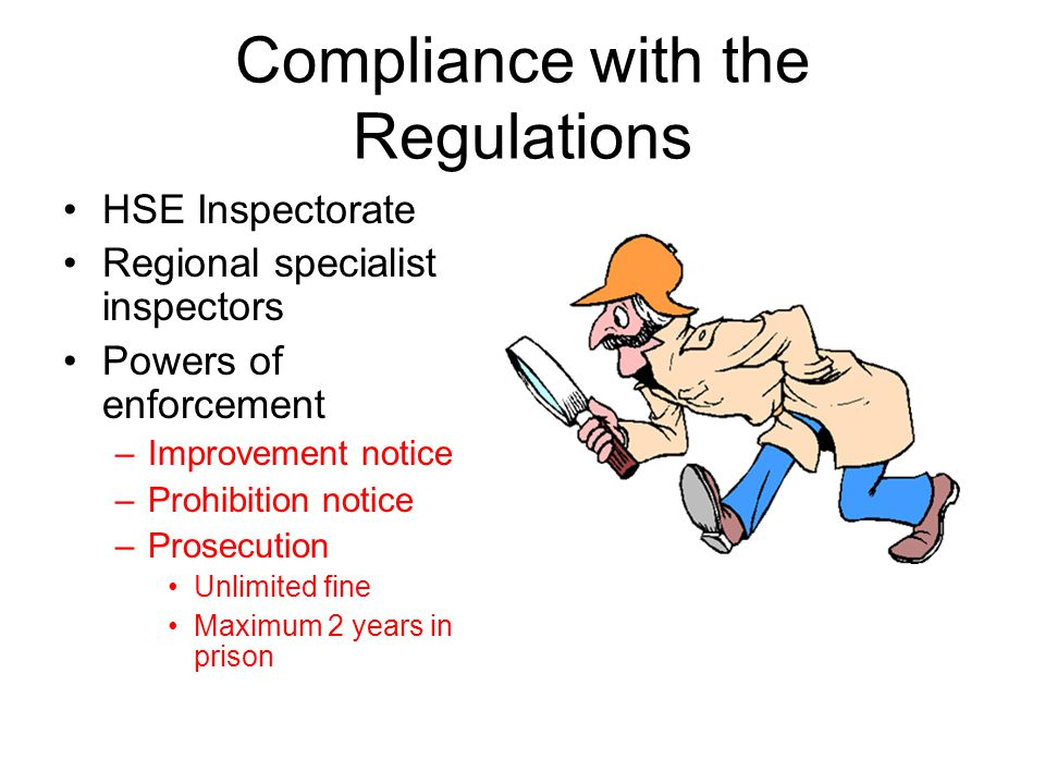 Compliance with the Regulations