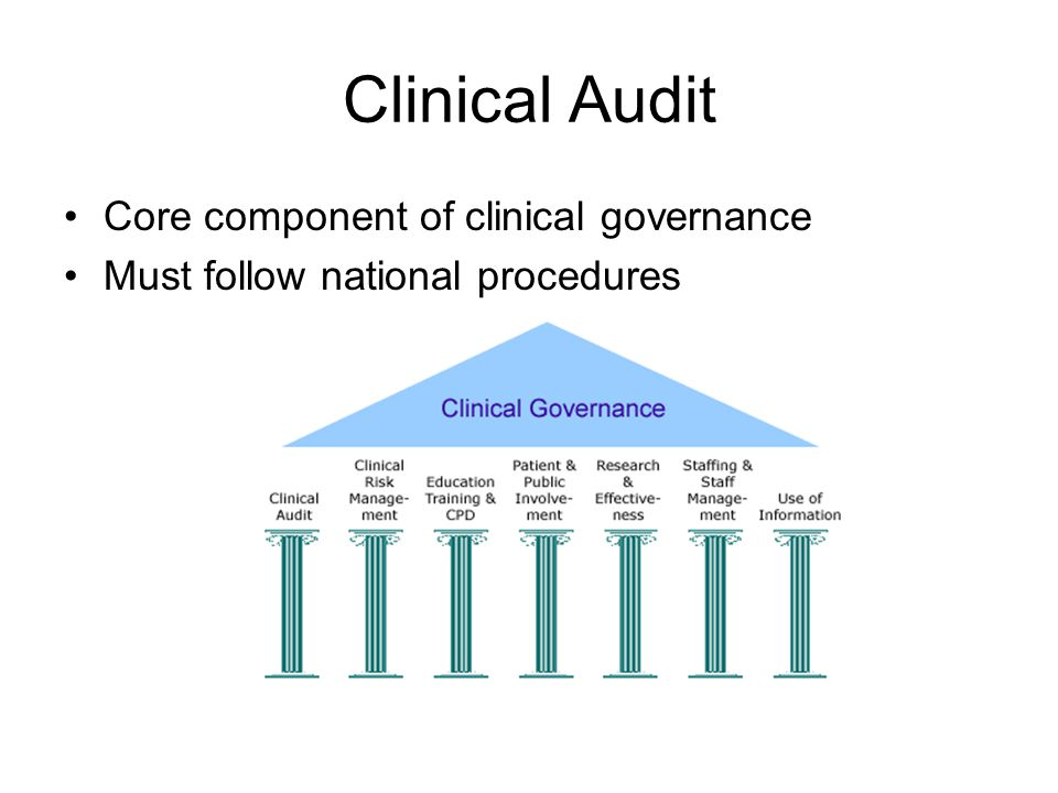 Clinical Audit Core component of clinical governance