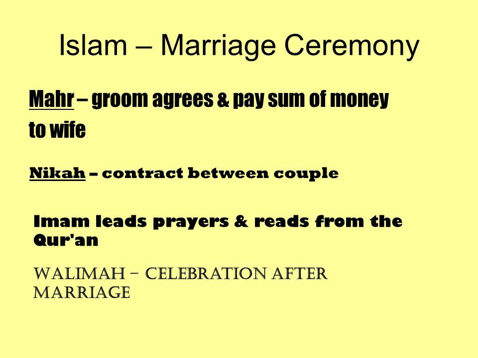 Islam – Marriage Ceremony