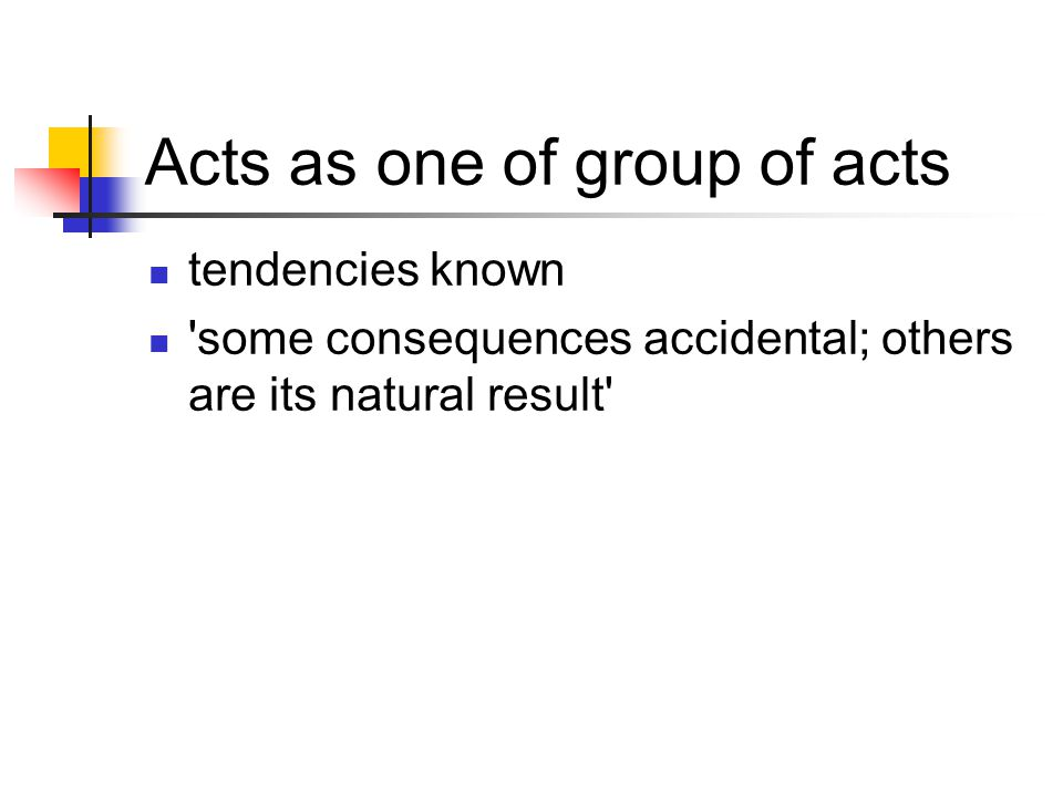 Acts as one of group of acts