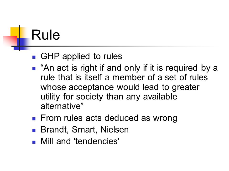 Rule GHP applied to rules