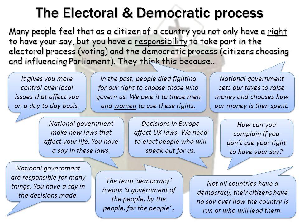 The Electoral & Democratic process
