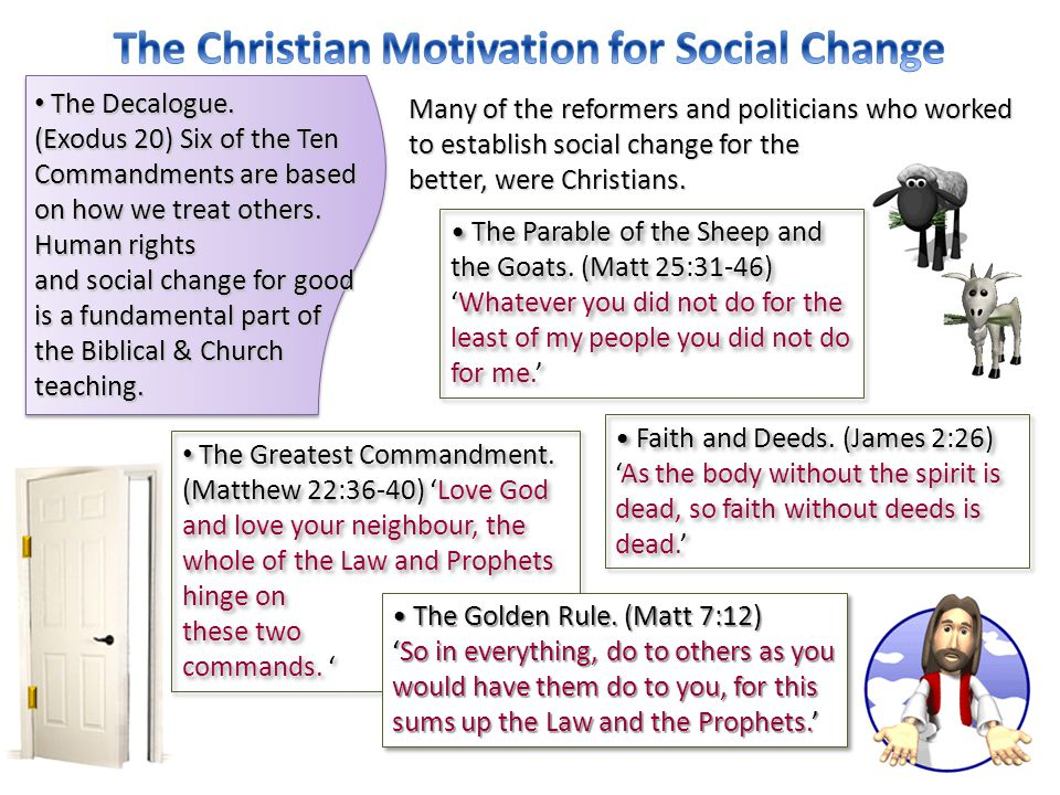 The Christian Motivation for Social Change