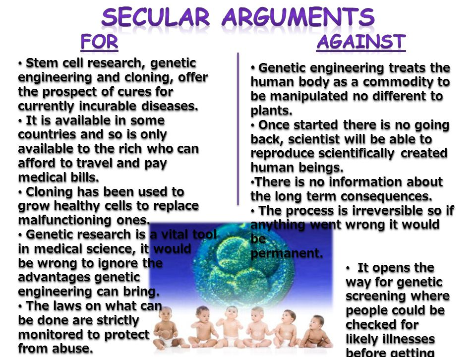 Secular Arguments For Against