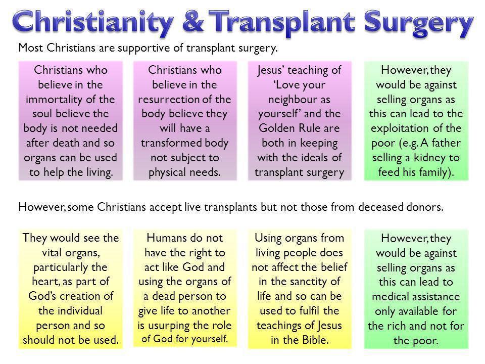 Christianity & Transplant Surgery