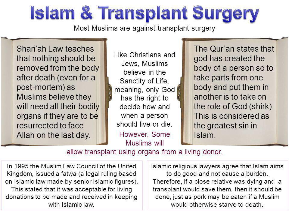 Islam & Transplant Surgery