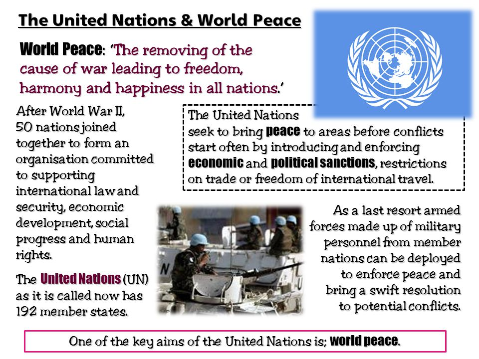 The United Nations & World Peace