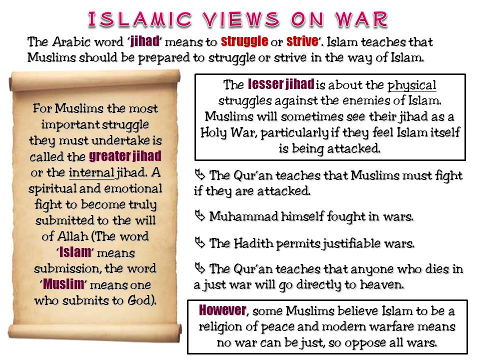 Islamic Views on War