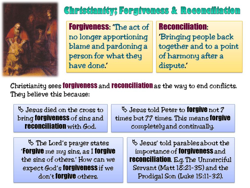 Christianity; Forgiveness & Reconciliation