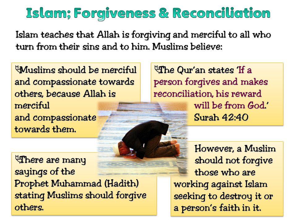Islam; Forgiveness & Reconciliation