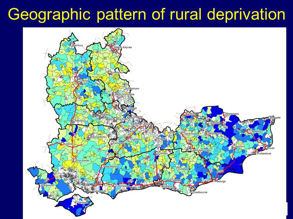 Geographic pattern of rural deprivation
