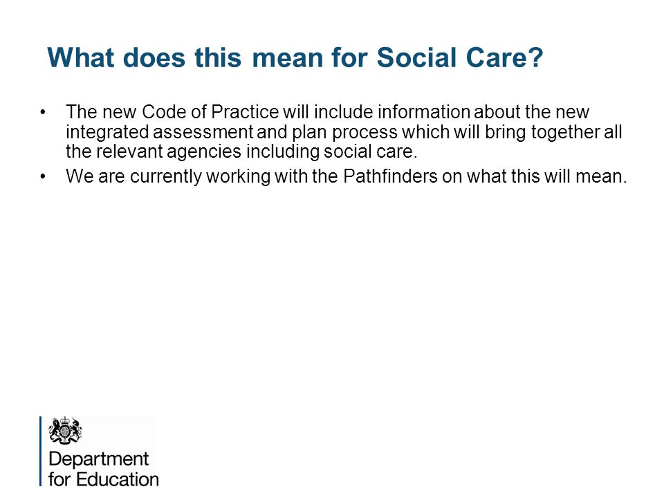 What does this mean for Social Care