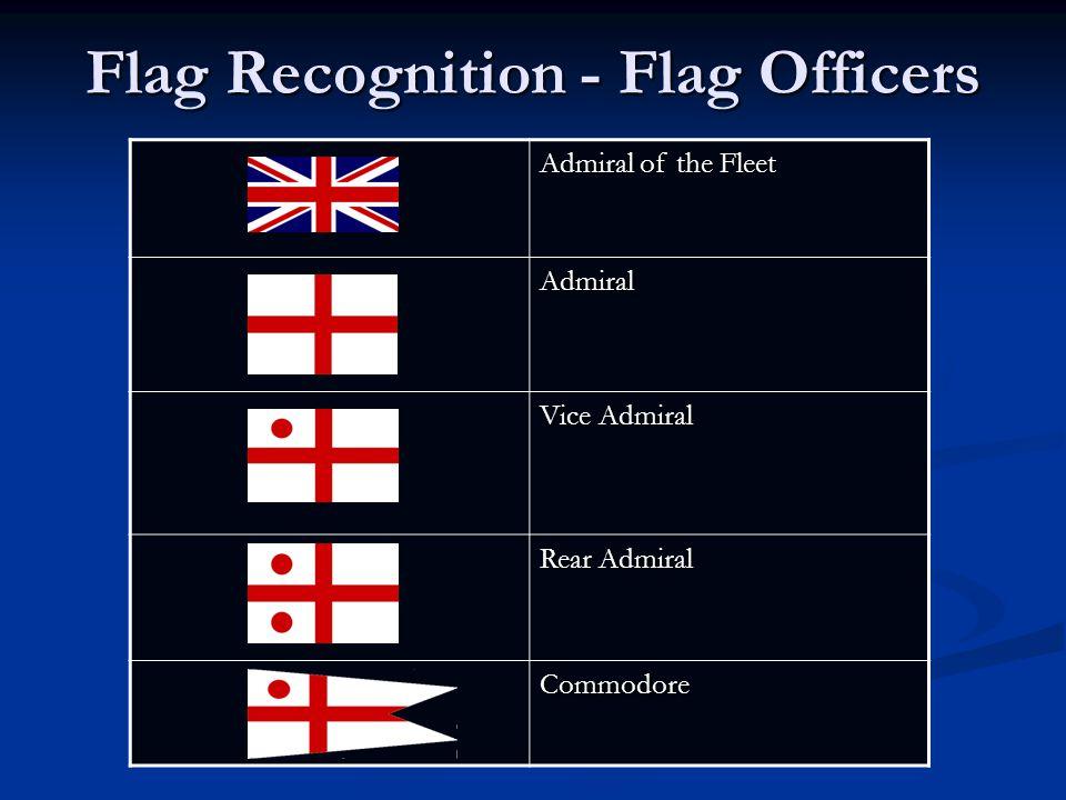 Flag Recognition - Flag Officers